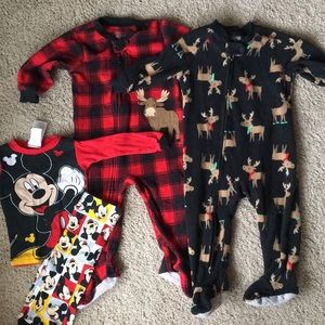 2 gently used and 1 NWOT PJs